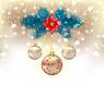 Векторный клипарт: Рождество gliwing фон с еловыми ветками,
