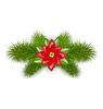 Векторный клипарт: Рождественские композиции с еловыми ветками и цветами