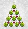 Векторный клипарт: Абстрактный елка из рождественских taditional элементов
