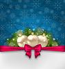 Векторный клипарт: Рождество элегантность карты с еловыми ветками и