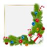 Векторный клипарт: Декоративные границы традиционных рождественских элементов