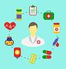 Set Flach medizinischen Symbole für Web-Design