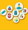 Set bunte medizinische Icons für Web-Design