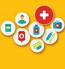 Set bunte medizinischen Symbole für Ihr Design