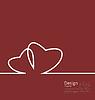 Layout paar Herzen für Design-Karte am Valentinstag