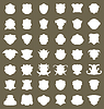 Set heraldische Schild-Etikett