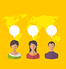 Menschen mit Chat-Sprechblasen, das Konzept der sozialen