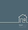 Web Template Hauszeichen in minimalistischen Stil