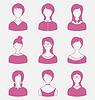Smiles Satz vorne Porträt Frauen