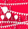 Alles Gute zum Geburtstag Hintergrund mit Luftballons und