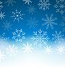Neujahr blauen Hintergrund mit Schneeflocken und Kopie