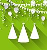 Векторный клипарт: Праздник фон с карнавальные шляпы, воздушные шары,