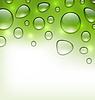 Векторный клипарт: Вода Абстрактный зеленый фон с каплями, место