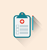 Векторный клипарт: Медицинские буфер обмена записи и карандаш с тех пор