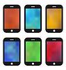 Векторный клипарт: Набор красочных обоев для мобильных телефонов. Blurre