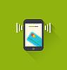 Векторный клипарт: Черный смартфон с переработку мобильных