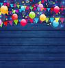 Luxusferien Hintergrund mit bunten Ballons