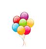 Векторный клипарт: Букет разноцветных шаров