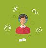 Векторный клипарт: Концепция сервиса бизнес-обслуживания клиентов, современный