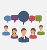 Векторный клипарт: Концепция лидерства, пузыри диалоговое речи