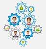 Векторный клипарт: Идея совместной работы и успеха, деловых людей