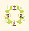 Векторный клипарт: Единство деловых людей приводит к успеху