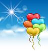 Векторный клипарт: Коллекция глянцевый красочные сердца воздушные шары для