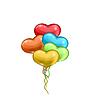 Векторный клипарт: Букет разноцветных шаров в форме сердца