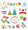 Set bunte Objekte der Karneval, Party, Geburtstag