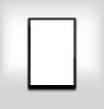 schwarze Tablet-PC Computer mit leeren weißen Bildschirm l