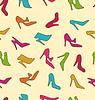 Nahtlose Beschaffenheit mit bunten Frauen Schuhe