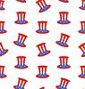 Nahtlose Beschaffenheit mit Uncle Sams Zylinderhut für