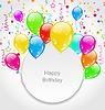 Alles Gute zum Geburtstag Karte mit Set Ballons und Konfetti