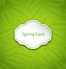 Frühling Karte auf Eco-Muster mit Green Leaves