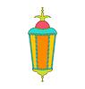 Arabisch Bunte Lampe für Ramadan Kareem