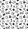 Nahtlose Textur mit Wirtschafts- und Finanz Icons