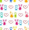 Nahtlose Wallpaper mit Romantic Couple