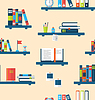 Nahtlose Textur mit Bücher über virtuellen Bibliotheken