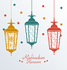 Filigrane Colorful arabische Lampen