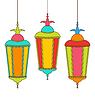 Colorful arabische Lampen für Ramadan Kareem