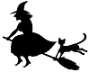 Hexe und schwarze Katze