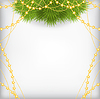 Christmas background with fir branch decorated | Stock Vector Graphics