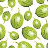 Grüne Stachelbeeren Muster nahtlose