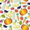 Cartoon Gemüse Muster nahtlose