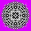 grau kreisförmige dekorative geometrische Muster für