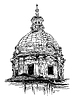 Skizze, Zeichnung der alten Basilika von Rom