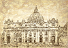 St. Peter `s Cathedral, Rom, Vatikan, Italien