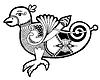 Schwarz-Weiß-authentisch celtic bird