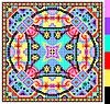 geometrischen quadratischen Muster für Kreuzstich