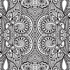 Black and white seamless pattern, Handzeichnung
